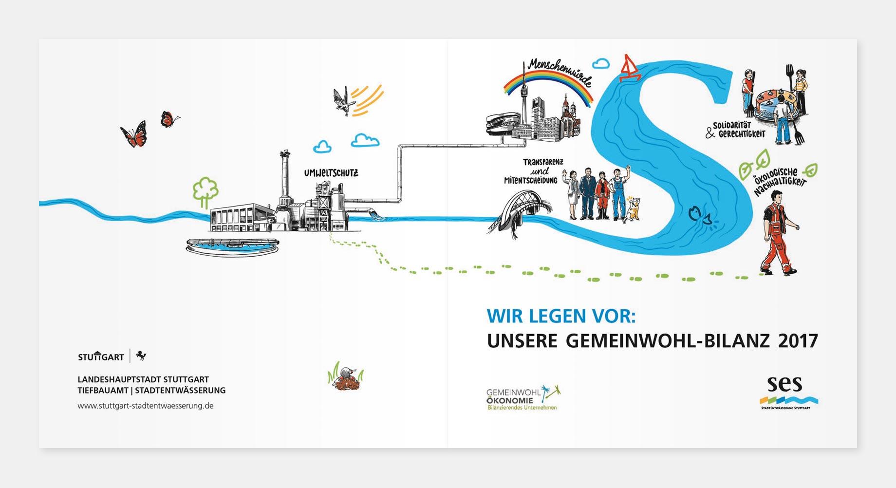 Die SES ist der zweite kommunale Betrieb weltweit, der eine Gemeinwohl-Bilanz erstellt hat. Die Kurzfassung des Berichts kann auf der Homepage www.stuttgart-stadtentwaesserung.de heruntergeladen werden.