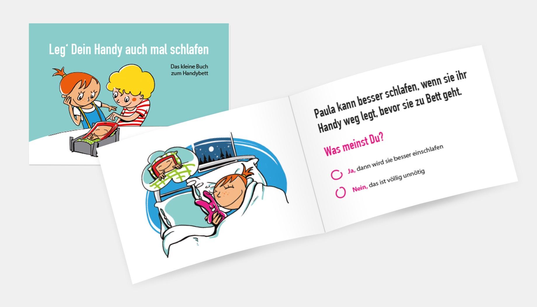 Paula & Max als Büchlein für den bewussten Umgang mit dem Smartphone