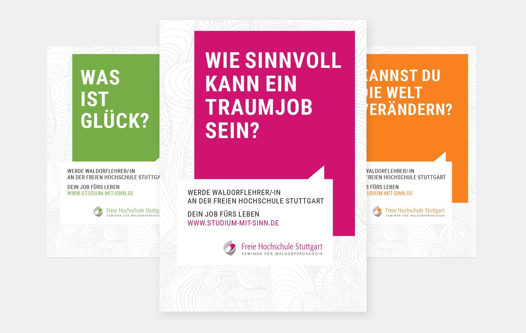 Plakate im Einzugsgebiet der Hochschule