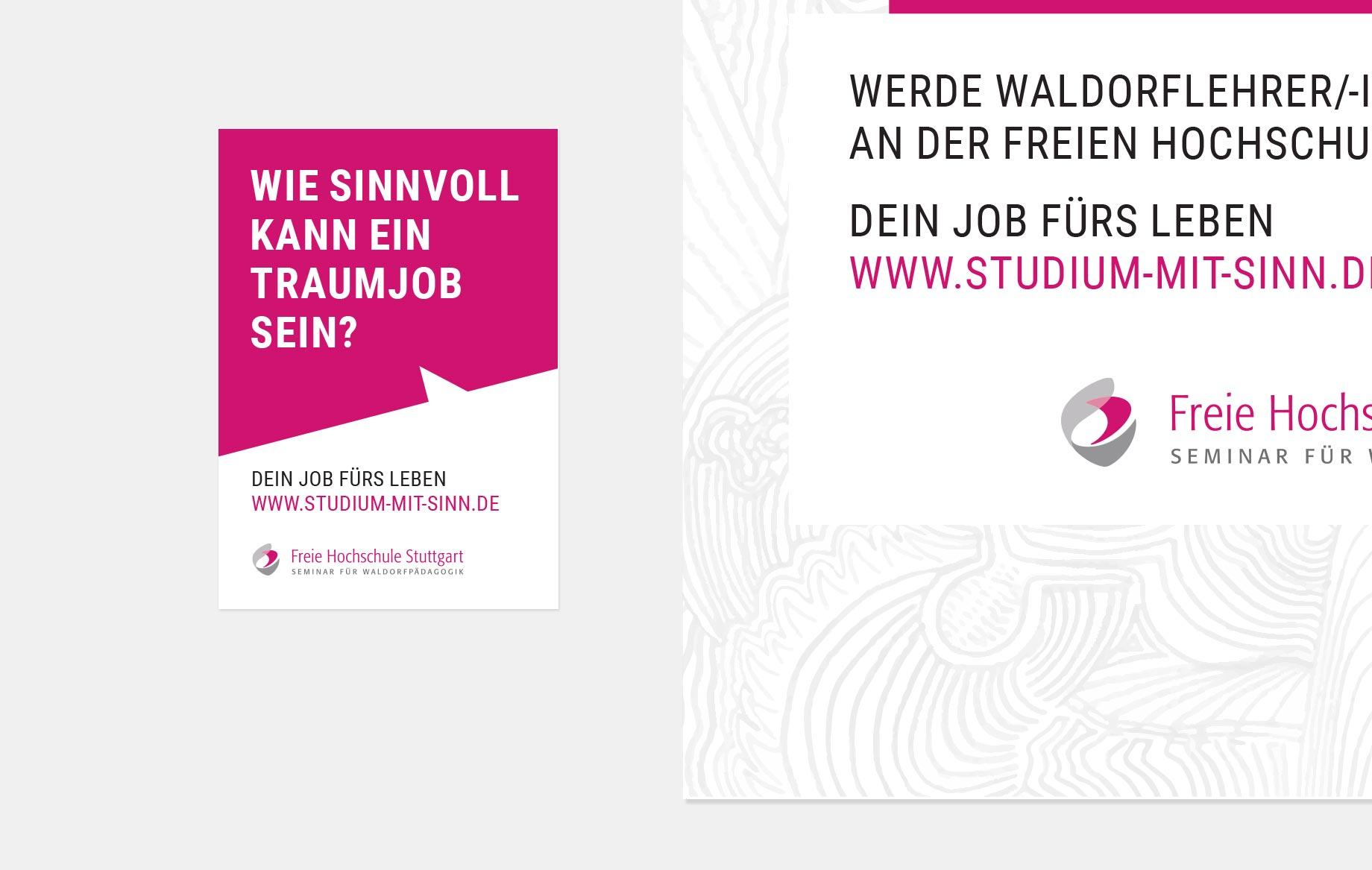 Plakate und Sticker für die Freie Hochschule Stuttgart