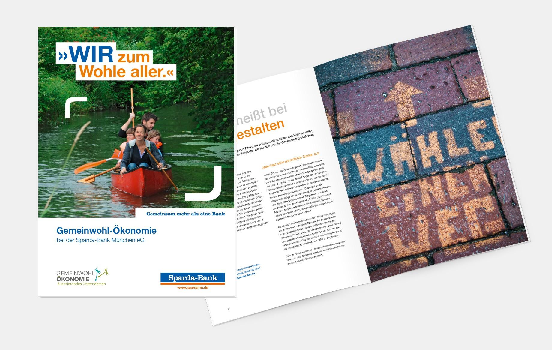 Weckt Interesse für nachhaltiges Handeln: der GWÖ-Kurzbericht der Sparda-Bank München.