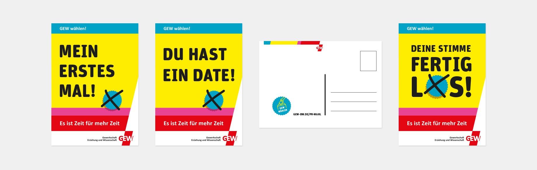 Postkarten sollen Erstwähler*innen ansprechen und die Wahlbeteiligung erhöhen.