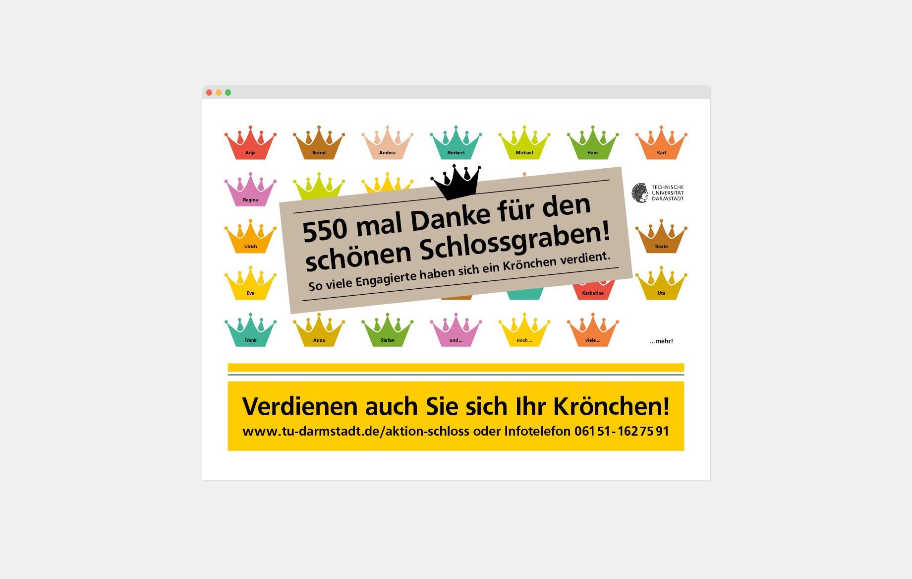 Ansprache der Zielgruppe auf LED-Screens in Bussen und Bahnen im Raum Darmstadt.