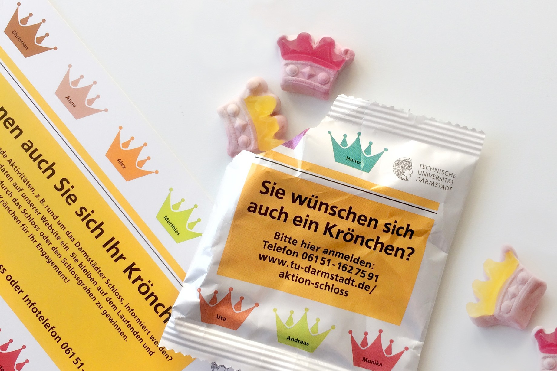 Gummibärchen in Krönchenform.