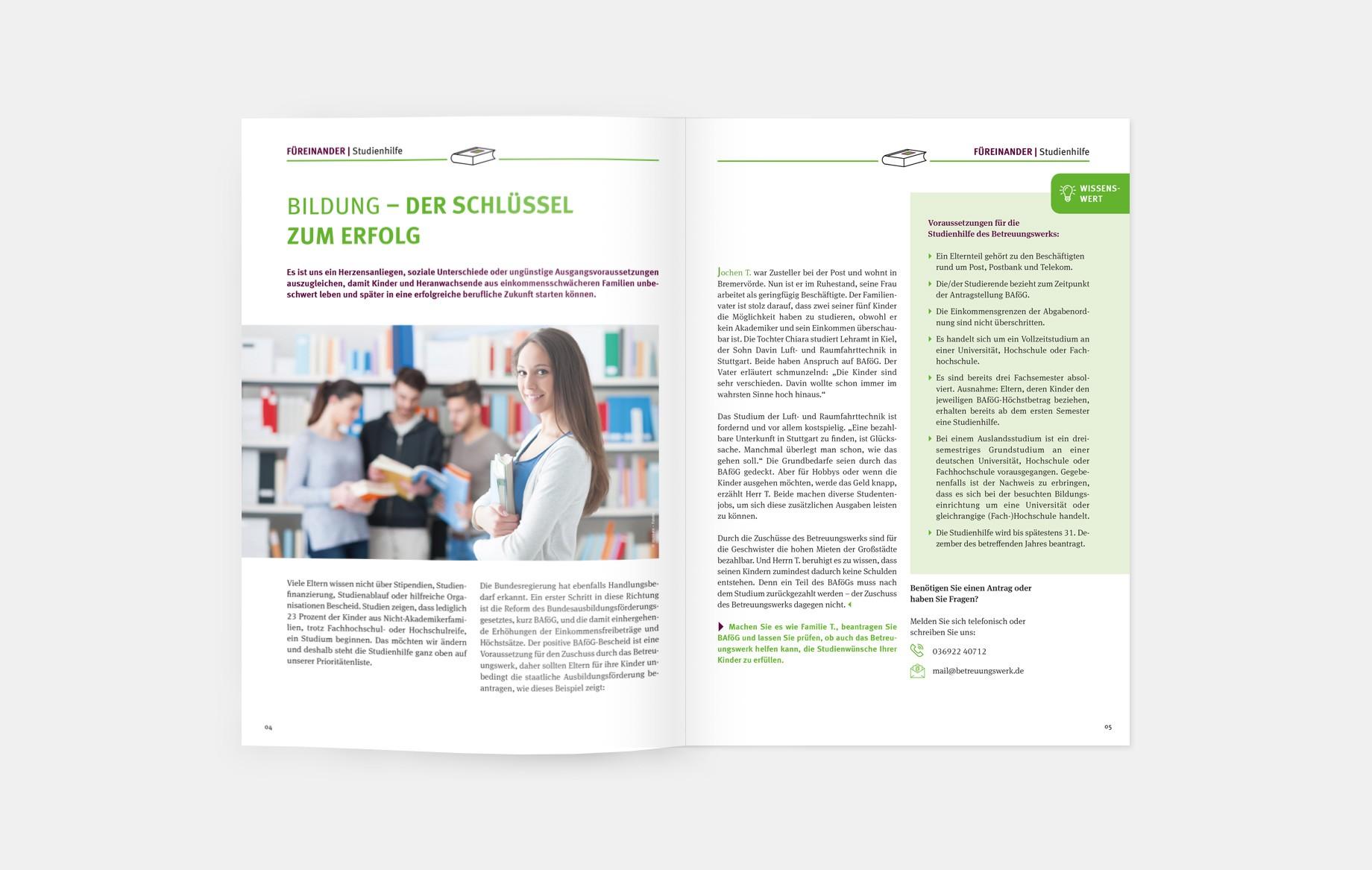 Die Spendenzeitschrift hat eine Auflage von 2 Millionen Exemplaren, wird an alle Spenderinnen und Spender versendet und erzählt bewegende Geschichten von Menschen, die füreinander einstehen.