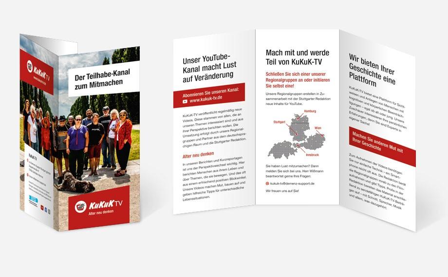 Der Flyer mit neuem Corporate Design.