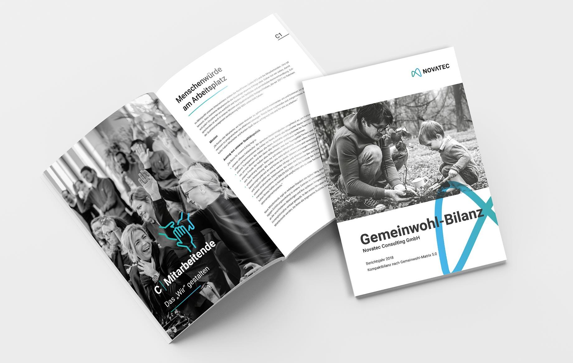Die Gemeinwohl-Bilanz im Novatec-Design.